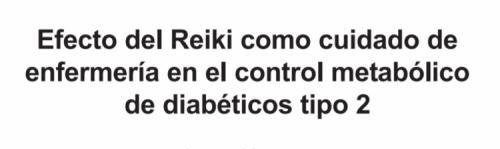 Reiki Diabetes Mellitus type 2