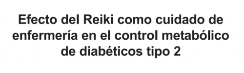 Reiki Diabetes Mellitus type 2
