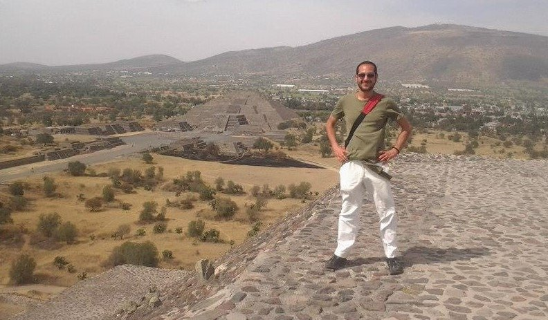 Eugenio Lepine at Teotihuacan