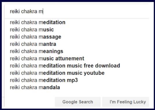 Reiki Chakra Masaje