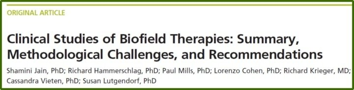 Studies of Biofield Therapies